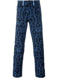джинсы с принтом звезд Givenchy