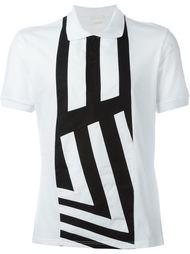 футболка-поло с полосатой панелью Alexander McQueen