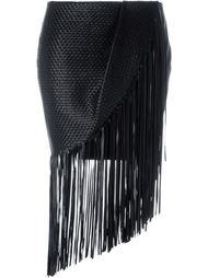 юбка асимметричного кроя с бахромой Magda Butrym