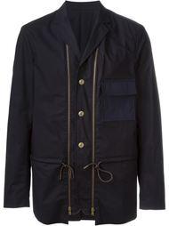 короткое пальто с декоративными молниями Marni