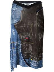 юбка с джинсовым принтом Christian Dior Vintage