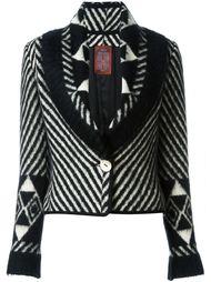 трикотажный пиджак в полоску John Galliano Vintage