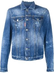 джинсовая куртка с потертой отделкой Dsquared2