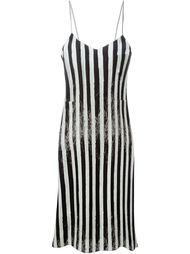 платье в полоску  Mm6 Maison Margiela