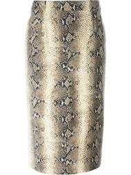 юбка-карандаш с принтом змеиной кожи John Galliano Vintage