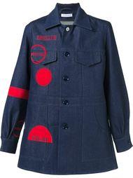 джинсовое пальто с графическим принтом J.W.Anderson