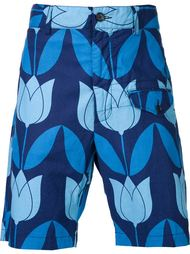 шорты карго с принтом тюльпанов Engineered Garments