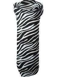 драпированное платье с зебровым принтом  Junya Watanabe Comme Des Garçons