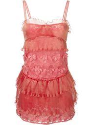 платье с цветочной аппликацией  Giamba