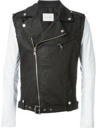 байкерская куртка с контрастными рукавами Pierre Balmain