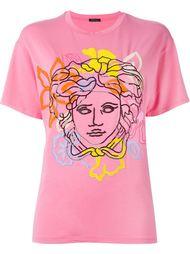 футболка свободного кроя с логотипом  Versace