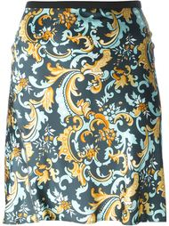 юбка с принтом Paco Rabanne