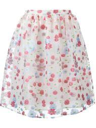 жаккардовая юбка с цветочным принтом Red Valentino