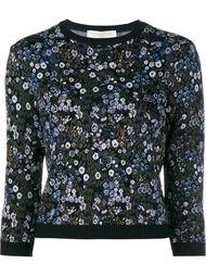 жаккардовый свитер с цветочным узором Valentino