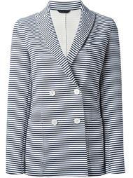 двубортный полосатый пиджак Fay