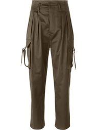 брюки с завышенной посадкой Balmain
