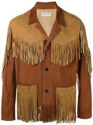 куртка в стиле Вестерн с бахромой Saint Laurent