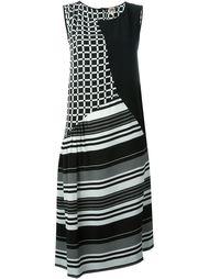 платье с полосатым и клетчатым узором I'M Isola Marras