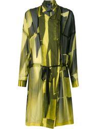 прозрачное двубортное пальто Ann Demeulemeester