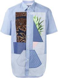 рубашка с короткими рукавами в стиле пэчворк  Junya Watanabe Comme Des Garçons Man