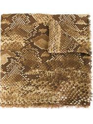 шарф со змеиным принтом Roberto Cavalli