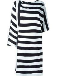 асимметричное полосатое платье-футболка  Y-3