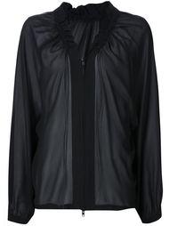 блузка на молнии со сборкой Ann Demeulemeester