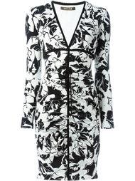 платье с абстрактным принтом  Roberto Cavalli