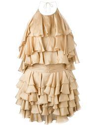 платье с рюшами Balmain