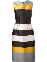приталенное платье в полоску Cédric Charlier