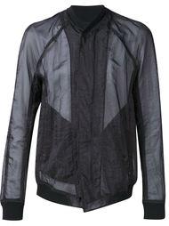 прозрачная куртка-бомбер Julius