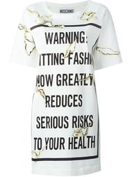 платье-футболка 'Fashion Kills' Moschino