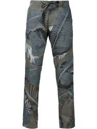 брюки с растительным принтом Palm Angels