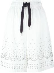 декорированные шорты с люверсами Alexander Wang