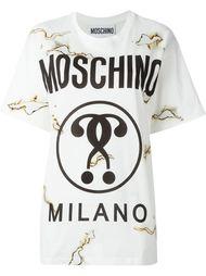 футболка с принтом вопросительных знаков Moschino