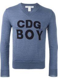 джемпер с логотипом в технике интарсия Comme Des Garçons Shirt Boy