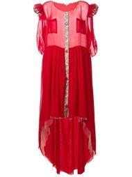 длинное платье с оборками Natasha Zinko