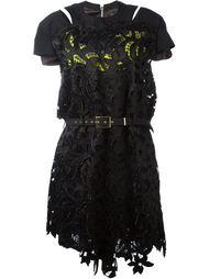 платье с вышивкой Sacai