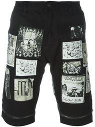 джинсовые шорты с нашивками Haculla