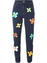 джинсы с цветочным узором  Au Jour Le Jour