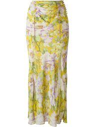 юбка с цветочным принтом John Galliano Vintage