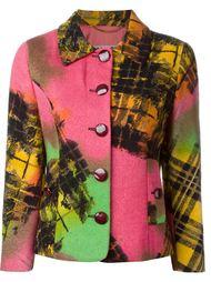 жаккардовый пиджак с крупными пуговицами Moschino Vintage