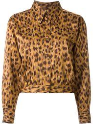укороченный пиджак с животным принтом Moschino Vintage