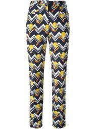 брюки 'Tweetie Pie' с зигзагообразным узором Jc De Castelbajac Vintage