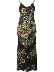 длинное платье с цветочным принтом Jean Paul Gaultier Vintage