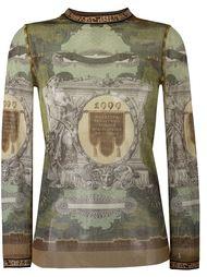 прозрачный свитер с графическим принтом Jean Paul Gaultier Vintage