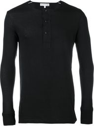 футболка 'Henley' с длинными рукавами Merz B. Schwanen