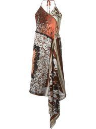 асимметричное платье с цветочным принтом Jean Paul Gaultier Vintage