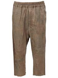 укороченные жаккардовые  брюки  By Walid