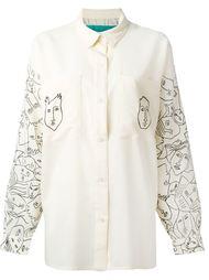 рубашка с принтом лиц Jc De Castelbajac Vintage